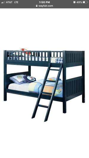 550 twin over twin bunk bed mattress included for Sale in San Leandro, CA