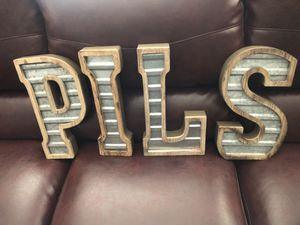 4 letters S L I P metal and wood for Sale in Parker, CO
