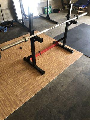 adjustable squat rack (( NO BAR)) for Sale in Belmont, CA