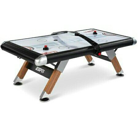 ESPN 84'' Fast-Line Air Powered Hockey Table with 4 pushers and 4 pucks, Black