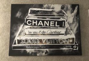 NEW Z-Gallerie 'Philosophy of Fashion' Canvas Art - $299.95 in stores (LARGE) for Sale in North Bethesda, MD