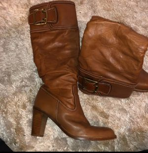 Coach leather boots for Sale in Sanger, CA