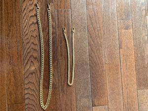 Gold chain for handbags. Longest is 42 inch shortest 23.5 for Sale in Englishtown, NJ