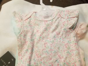 **brand new** baby girl onesies and blanket for Sale in Herndon, VA