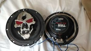 Skull Car Speakers, Radio for Sale in Quincy, IL