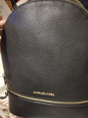 michael kors backpack leather color black for Sale in West Bridgewater, MA
