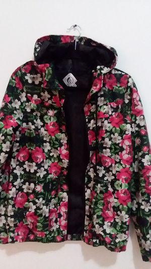 Volcom Womens Medium Jacket Shell Ski Rain Snowboard Lightweight Floral for Sale in Seattle, WA