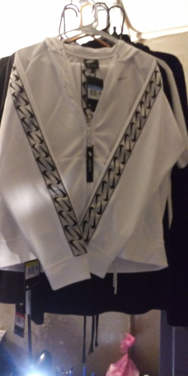 Nike- Women's white jogging suite. Small bottoms med. Top