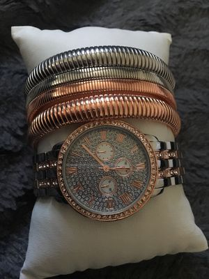 Brand new watch & 4 bangles for Sale in North Bethesda, MD
