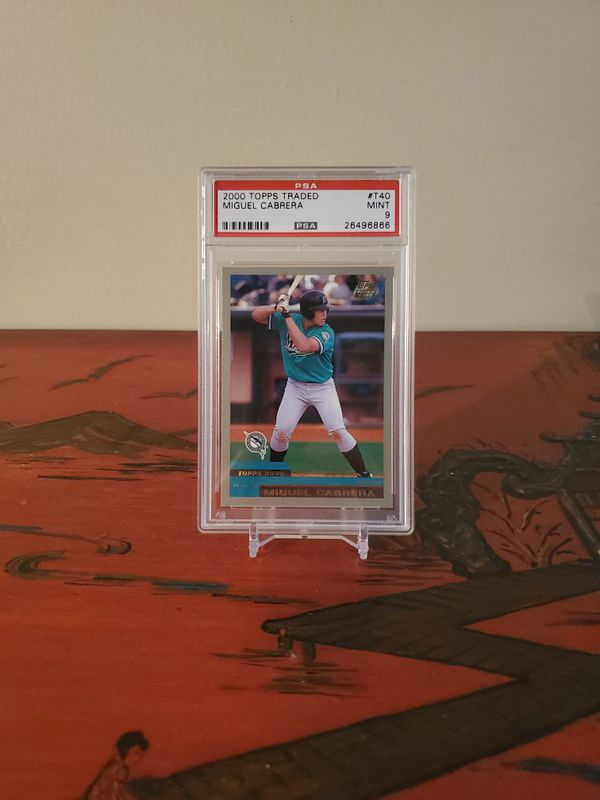 2000 Topps MINT Miguel Cabrera rookie card