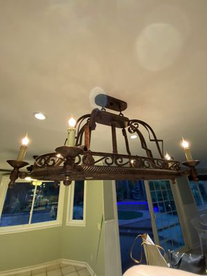 Hanging Pot Rack Lamp for Sale in Long Beach, CA
