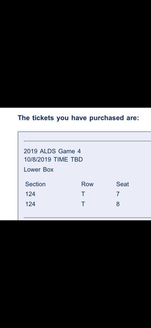 Tampa Bay Rays ticket's for Sale in St. Petersburg, FL