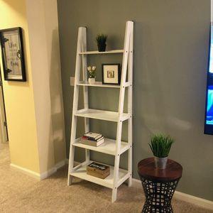 Brand New 5 Tier White Wood Ladder Shelf for Sale in Laurel, MD