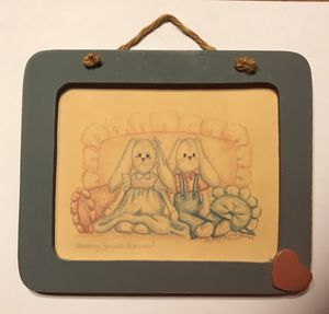 Wooden Framed Picture by Beverly Sorrel Barnes 1990 for Sale in Selinsgrove, PA