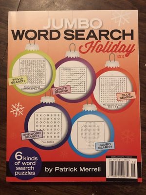 Jumbo Word Search Holiday 2011 for Sale in Riverside, CA