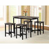 Brown / black pub table with 4 stools ( new ) for Sale in San Mateo, CA