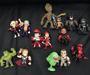 Metal diecast figure toys Batman hulk groot Deadpool for Sale in Las Vegas, NV