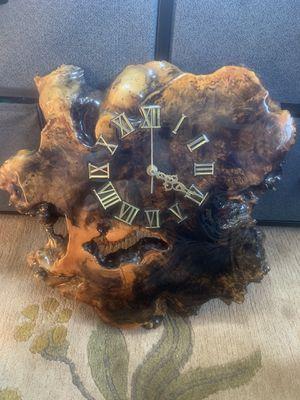 BURL CLOCK for Sale in Pleasanton, CA
