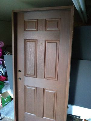 Pre stained door with frame for Sale in Duncanville, TX