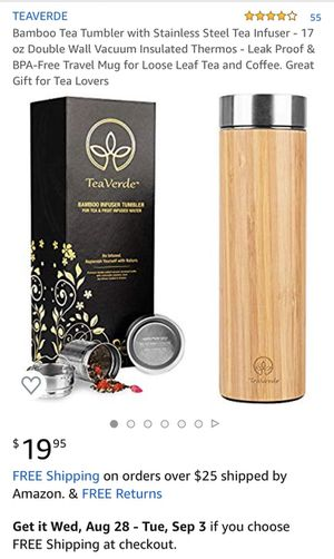 Bamboo tea tumbler for Sale in Freehold, NJ