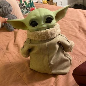 baby yoda plushie w/ lashes for Sale in Hollywood, FL