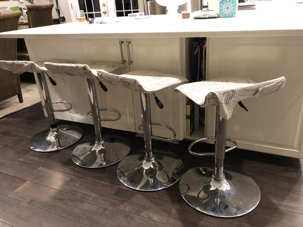 Newly reupholstered bar stools - set of 4 priced to sell!