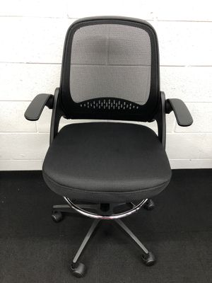 BRAND NEW BLACK ADJUSTABLE DRAFTING CHAIR WITH ADJUSTABLE ARMS for Sale in Lawrenceville, GA