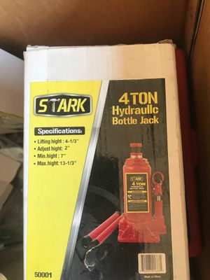 4ton hydraulic bottle jack for Sale in Azusa, CA