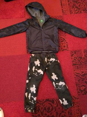 Waterproof dark camo lined jacket and camo pants size 6 for Sale in Seattle, WA