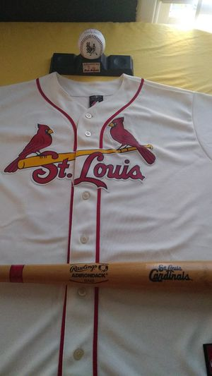 Stl jersey, bat , and ball for Sale in Saint Charles, MO