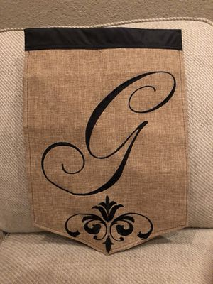 Burlap Monogram Garden Flag for Sale in Lodi, CA