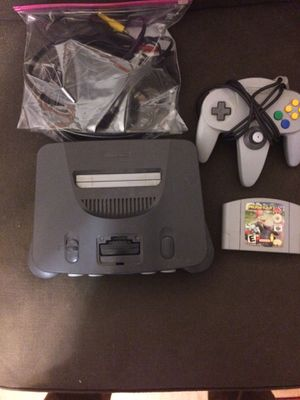 N64 console with Mario kart for Sale in Pittsburgh, PA