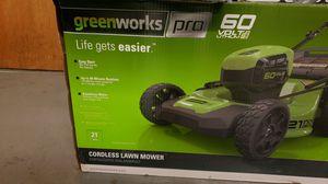 Green works 60 V lithium lawn mower for Sale in Atlanta, GA