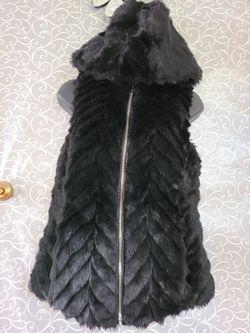 Armani Exchange Faux Fur Vest black small for Sale in Annandale,  VA