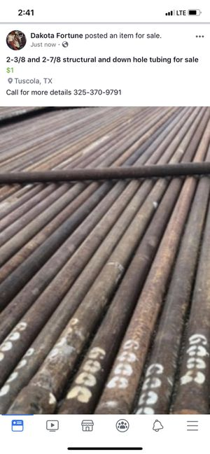 2-3/8 and 2-7/8 structural and downhole tubing for Sale in Tuscola, TX