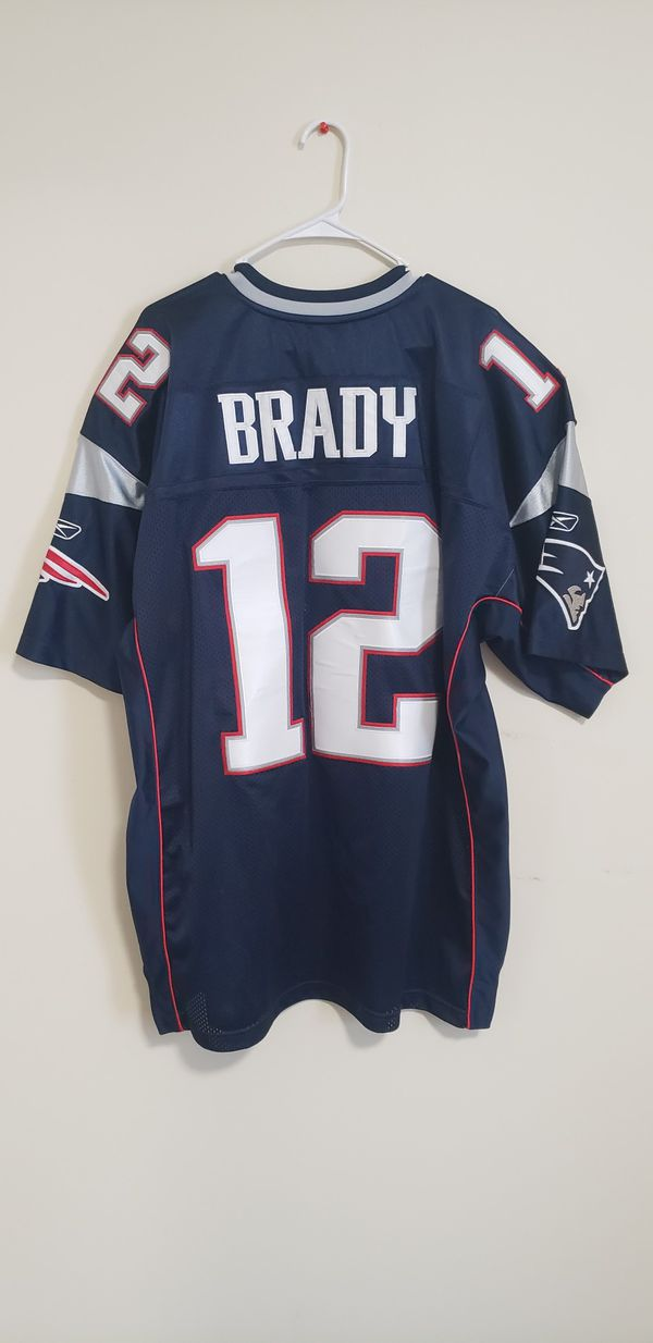 Tom Brady Jersey #12 hand stitched size 52 PERFECT CONDITION WORN ONCE