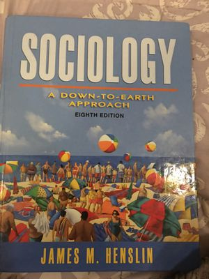 SOCIOLOGY TEXTBOOK for Sale in San Jose, CA