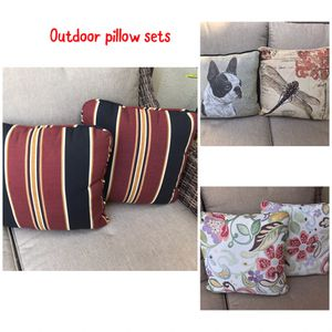 Outdoor patio furniture throw pillows for Sale in Palm Springs, FL