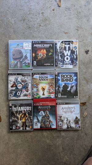 Ps3 slim - 9 games for Sale in Austin, TX