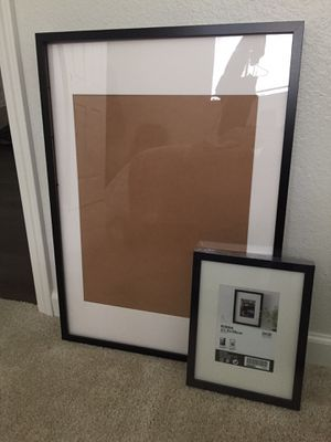 2 IKEA black picture frames for Sale in Kent, WA