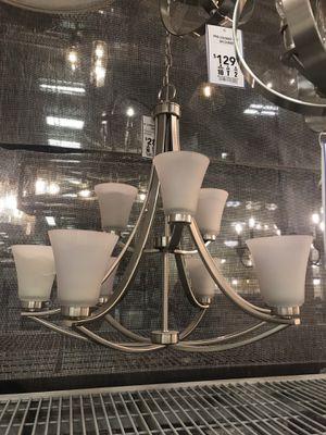 Chandelier 8 lights brushed nickel for Sale in Lutz, FL