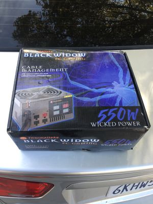 Black Widow PC gaming Cable Management for Sale in Fresno, CA