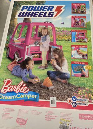 Power Wheels Barbie Dream Camper, Battery-Powered Ride-On Vehicle for Sale in Hampton, VA