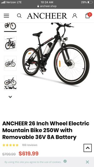 E-bike w/chain and pump for Sale in Barksdale Air Force Base, LA