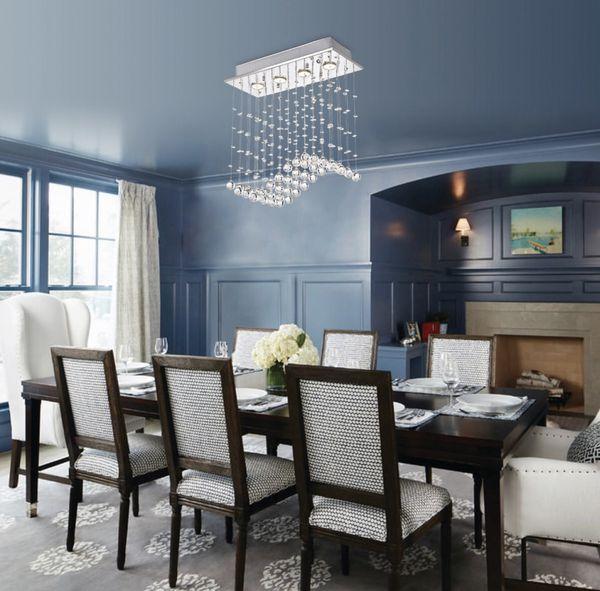 Crystal Ceiling Chandelier - Glam