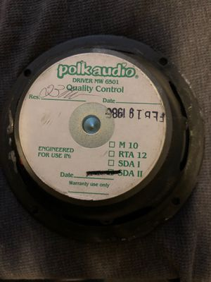 Polk Audio MW 6501 driver for Sale in Phoenix, AZ