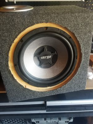 """12"""" subwoofer and box for Sale in Durham, NC"""