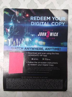 JOHN WICK 3 (DIGITAL MOVIE) for Sale in Bell Gardens, CA