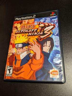 Naruto ultimate Ninja 3 PS2 for Sale in Sacramento, CA
