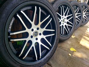 "22"" Strada Rims with Tires for Sale in Dallas, TX"